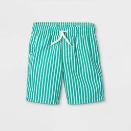 Boys' Vertical Striped Swim Shorts - Cat & Jack™ Green | Target