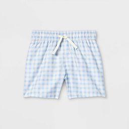 Toddler Boys' Gingham Swim Shorts - Cat & Jack™ Blue | Target