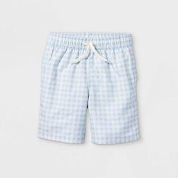 Boys' Gingham Swim Shorts - Cat & Jack™ Blue | Target