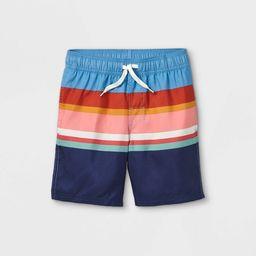 Boys' Striped Swim Shorts - Cat & Jack™ Blue | Target