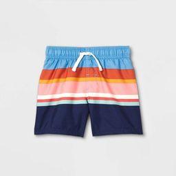 Toddler Boys' Striped Swim Shorts - Cat & Jack™ Blue | Target