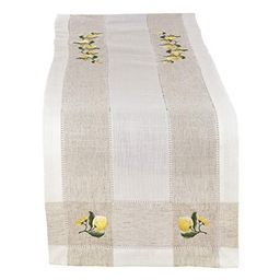 Fennco Styles Hommage Brodé Collection Cottage Lemon Embroidery Border Hemstitch Table Runner ...   Walmart (US)