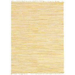 Unique Loom Striped Chindi Cotton Natural Fiber Area Rug or Runner | Walmart (US)