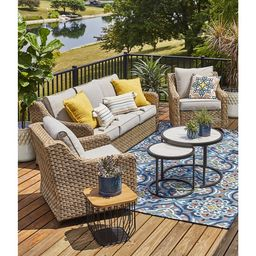 Better Homes & Gardens River Oaks 5-Piece Conversation Set with Covers | Walmart (US)