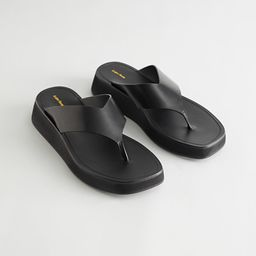 Leather Thong Strap Sandals | & Other Stories