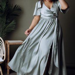 Sicily Sage Satin Maxi Dress | Baltic Born