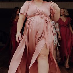 Sicily Blush Satin Maxi Dress | Baltic Born