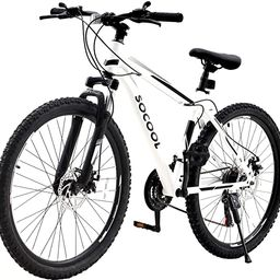 26 Inch Mountain Bike, 21 Speed Bicycle with Full Suspension, Adult Road Offroad City Bike, Full ... | Amazon (US)