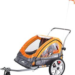 Instep Quick-N-EZ Double Tow Behind Bike Trailer for Toddlers, Kids, Converts to Stroller, Jogger... | Amazon (US)