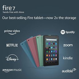 """Fire 7 tablet, 7"""" display, 16 GB, latest model (2019 release), Plum 