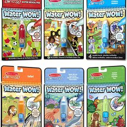 Melissa & Doug On the Go Water Wow! Reusable Color with Water Activity Pad 6-Pack, Sports, Occupa... | Amazon (US)