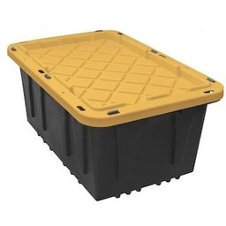 HDX 17 Gal. Tough Storage Bin in Black-SH17GTOUGHTLDBY - The Home Depot   The Home Depot