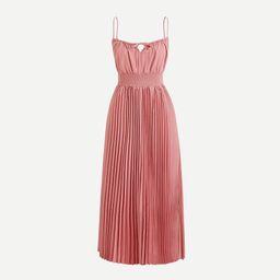 Smocked-waist pleated dress | J.Crew US