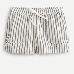 Cotton-linen seaside short in stripe | J.Crew US