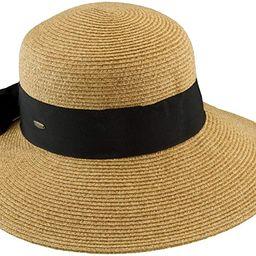 Scala Women's Paper Braid Hat with Dimensional Brim   Amazon (US)