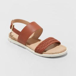 Women's Malia Two Strap Ankle Sandals - A New Day™ Cognac | Target