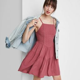 Women's Sleeveless Tiered Skater Dress - Wild Fable™ | Target
