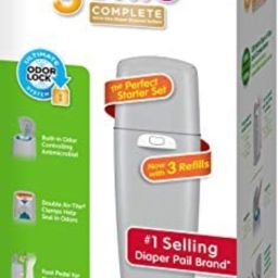 Diaper Genie Playtex Complete Diaper Pail, with Built-in Odor Controlling Antimicrobial, Includes... | Amazon (US)