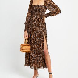 Classic Smocked Maxi Dress   Few Moda
