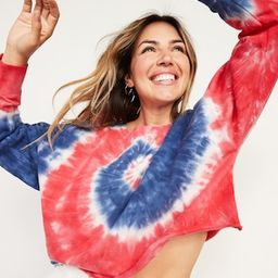 Oversized Americana Tie-Dye Sweatshirt for Women | Old Navy (US)