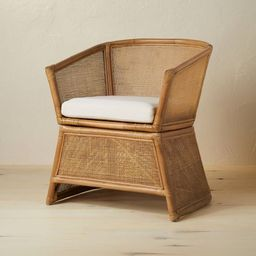 Selma Wicker Barrel Chair with Cushion Ivory - Opalhouse™ designed with Jungalow™ | Target