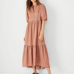 Paisley Puff Sleeve Shirtdress   Ann Taylor   Ann Taylor (US)