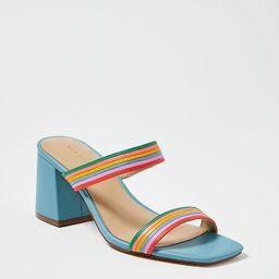Machelle Rainbow Leather Block Heel Sandals   Ann Taylor   Ann Taylor (US)