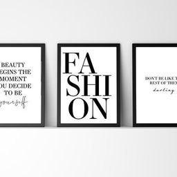 Fashion Quotes, Wall Print, Set of 3, Designer Inspired, Home Décor Wall Art, Gift, Bedroom Prin...   Etsy (US)