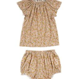 Rose Floral Shift Dress & Diaper Cover - Infant | Zulily