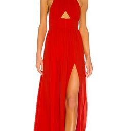 Lovers + Friends Hazel Gown in Red. - size XXS (also in M, S, XL, XS) | Revolve Clothing (Global)