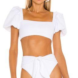 Agua Bendita x REVOLVE Calista Bikini Top in White. - size XS (also in M, S) | Revolve Clothing (Global)