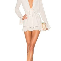 Tularosa Barlow Romper in White. - size L (also in M) | Revolve Clothing (Global)
