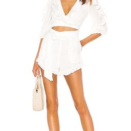 MAJORELLE Enzo Romper in White. - size XXS (also in L, M, XL) | Revolve Clothing (Global)