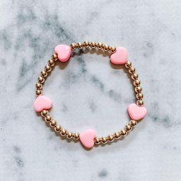 Full Of Love - 14k Gold filled 4mm beaded bracelet | Etsy (US)