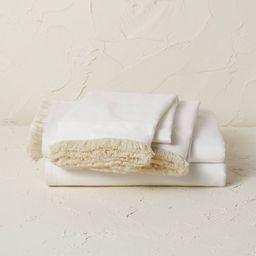 Fringe Cotton Percale Sheet Set - Opalhouse™ designed with Jungalow™   Target