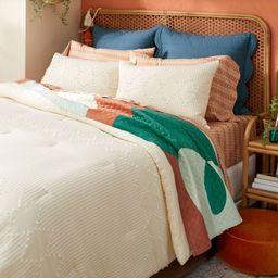 Diamond Clipped Comforter & Sham Set Cream - Opalhouse™ designed with Jungalow™   Target