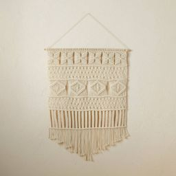 """25"""" x 35"""" Macrame Wall Hanging Natural - Opalhouse™ designed with Jungalow™   Target"""