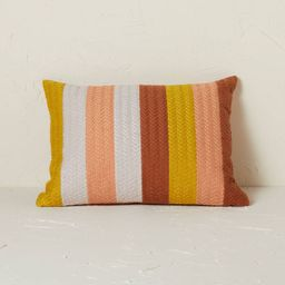 Striped Chevron Embroidered Lumbar Throw Pillow - Opalhouse™ designed with Jungalow™   Target