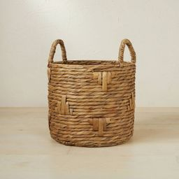 """13.78"""" x 11.81"""" Cylinder Woven Basket Natural - Opalhouse™ designed with Jungalow™   Target"""