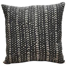 Jafari 20x20 Pillow, Black/Ivory | One Kings Lane