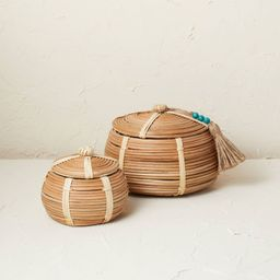 2pc Woven Canister Set Natural - Opalhouse™ designed with Jungalow™   Target