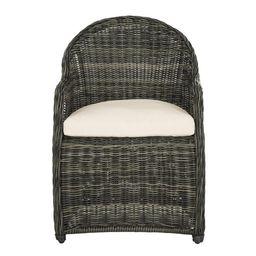 Safavieh Newton Outdoor Patio Wicker Arm Chair - Grey/Beige | Walmart (US)