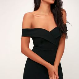Classic Glam Black Off-the-Shoulder Bodycon Dress | Lulus (US)