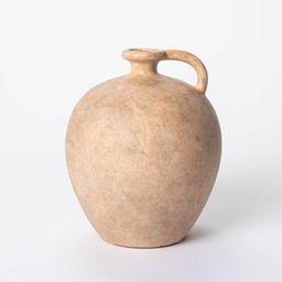 "8"" x 7"" Weathered Jug Vase Brown - Threshold™ designed with Studio McGee | Target"