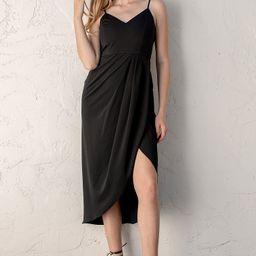 Reinette Black Midi Dress   Lulus (US)