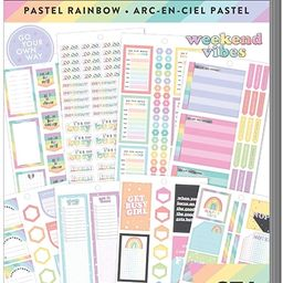The Happy Planner Value Pack Sticker Sheets - Scrapbooking Supplies - Pastel Rainbow Theme - Mult... | Amazon (US)