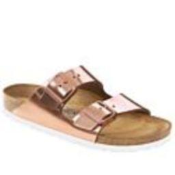 Birkenstock Arizona Two-Strap Comfort Sandal - Metallic - 11/11.5 | HSN