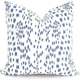 Flowershave357 Brunschwig Fils Les Touches Cadet Blue and White Decorative Pillow Cover 18x18 Eur... | Amazon (US)