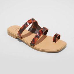 Women's Marilyn Toe Loop Slide Sandals - A New Day™   Target