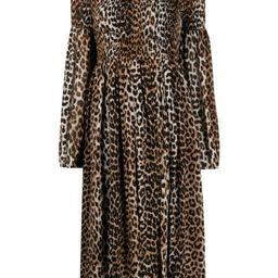 leopard-print ruched dress   Farfetch (UK)